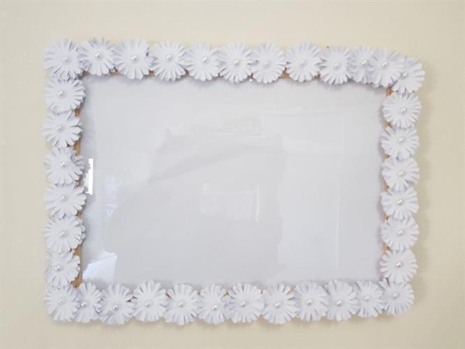 מסגרת תמונה לבן
