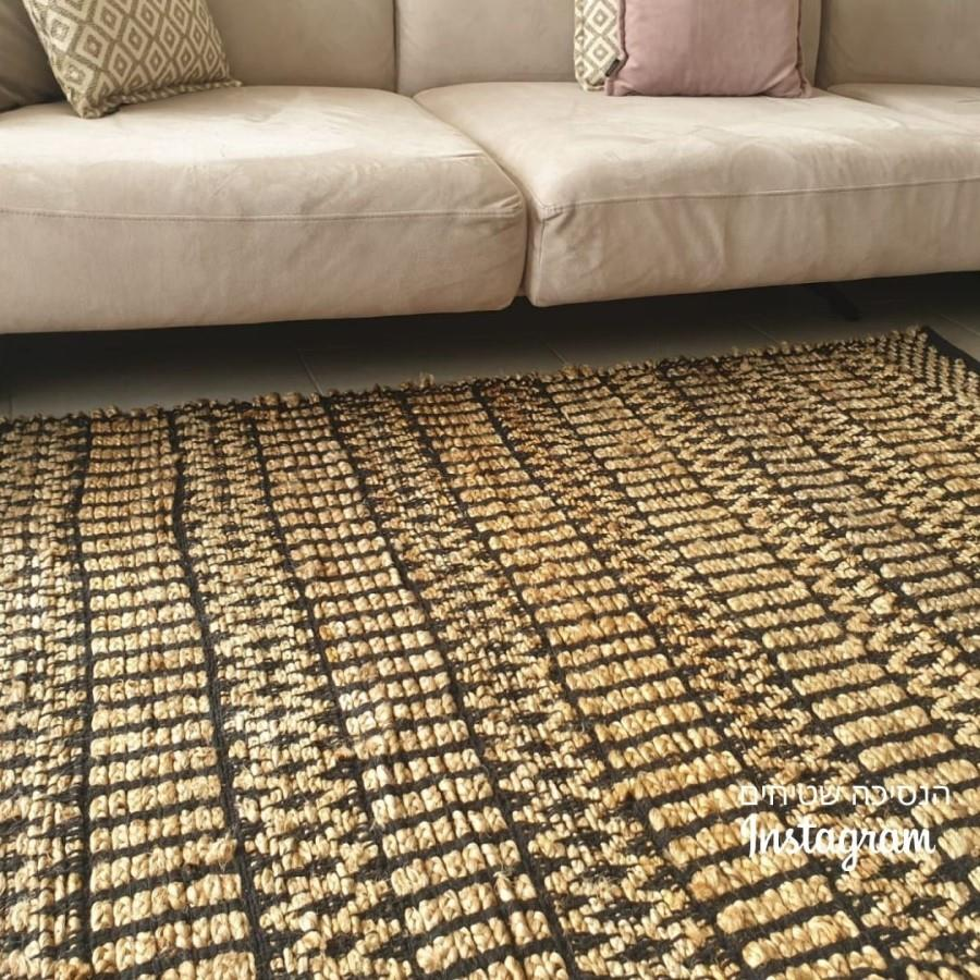 שטיח חבל\שחור דגם אירנה