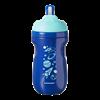 כוס מבודדת לשתייה פעילה עם קשית 12+ (כחול) - אקספלורה טומי טיפי