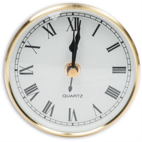 שעון קוטר 100 ממ מסגרת פליז