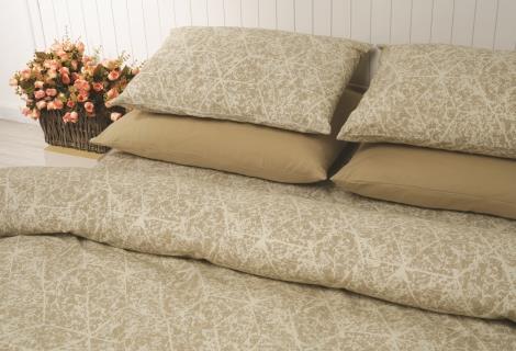 מצעים למיטת יחיד 100% כותנה - פריד דגם מארבל בז'