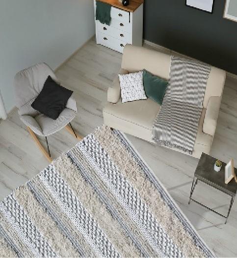 """שטיח דגם - """"איתמר"""" כותנה אותנטי בעבודת יד"""