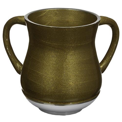 """נטלה מהודרת מאלומיניום 13 ס""""מ זהב נצנצים"""