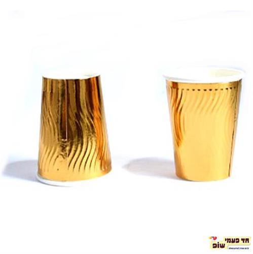 כוסות בועות גלים זהב