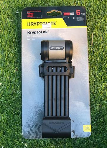 קריפטונייט מנעול חוליות מתקפל לאופניים Kryptonite - Kryptolok 610, רמה 6 ארוך