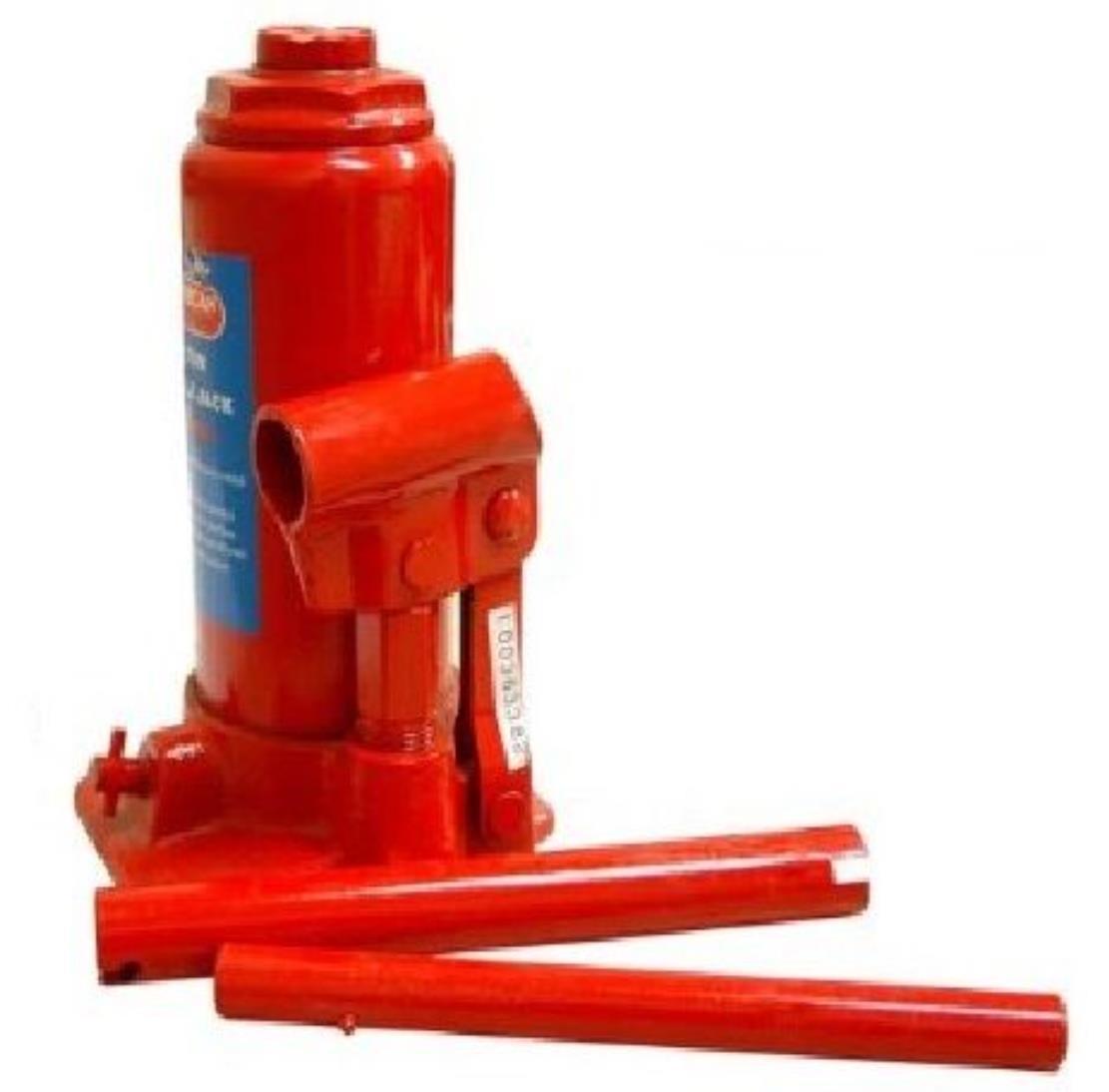 ג'ק מגבה הידראולי בקבוק 6 טון במארז צבע אדום