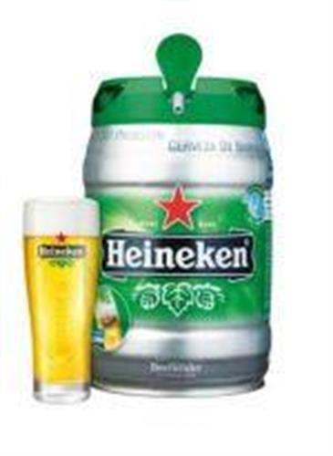 חבית בירה ביתית –Heineken- בנפח 5 ליטר עם ברז נשלף ונוח לשימוש  – (כשר)