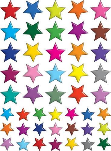 מדבקות כוכבים צבעוני