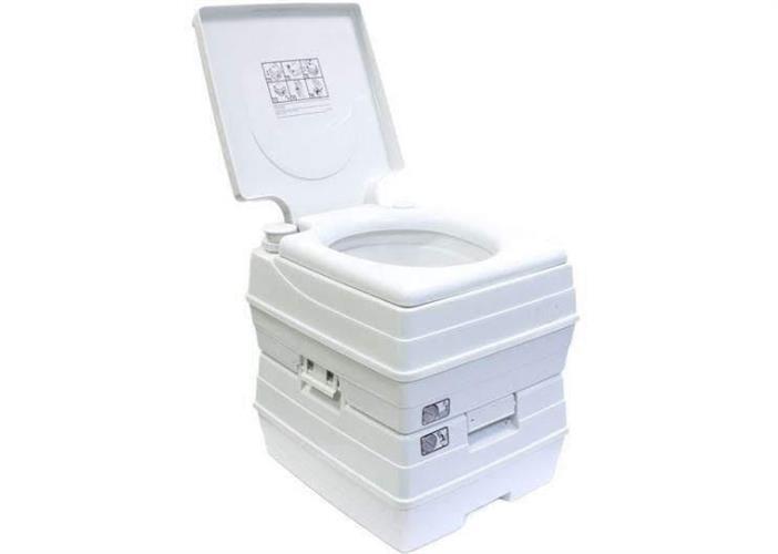 אסלה( 24 ליטר ) 21 ליטר עם אינדיקטור כפול לאנשים בבידוד בית שימוש  כימי נייד שירותים ללא צורך בחשמל