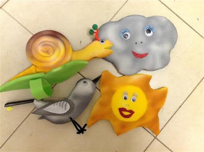 ארבע בובות להמחשה במיוחד לסתיו