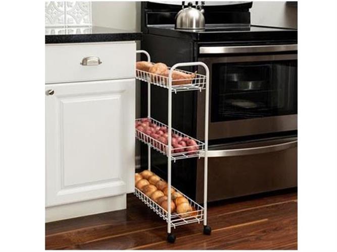 """עגלת שירות/ ירקות צרה  למטבח דגם CRT-01149 מבית honey can do ארה""""ב"""
