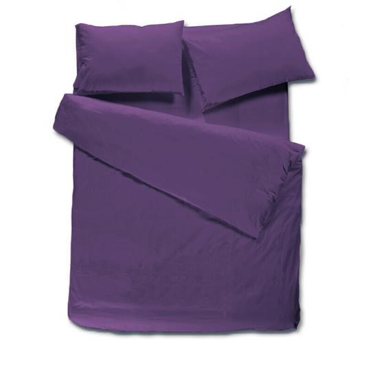 מצעים בתפזורת להרכבה 100% כותנה - סגול כהה