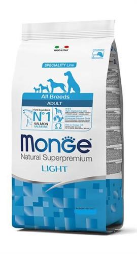 MONGE- לייט לכלב אדולט סלמון  12 קג all breeds