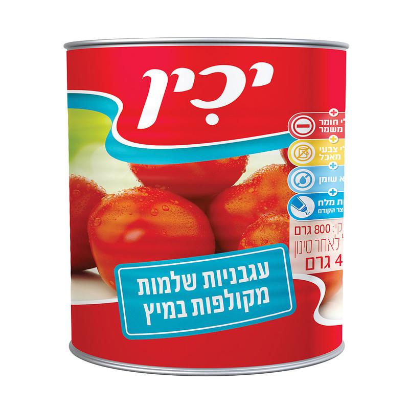 יכין עגבניות שלמות מקולפות 800 גרם - 3 יחידות