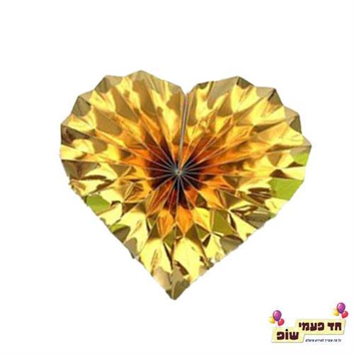 מניפה לב זהב ( 6 יחידות )