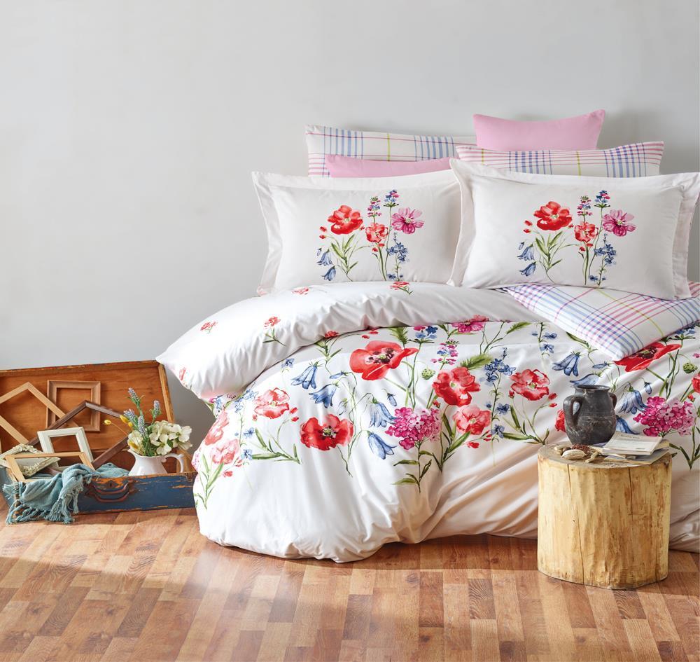 מצעים 100% כותנה סרוקה למיטת יחיד - רומנטקס Joy&more דגם J2