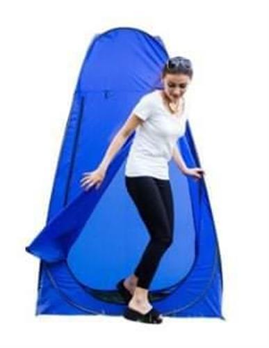 אוהל תא הלבשה צבע כחול מתאים למקלחון ואו שירותים בכל מקום