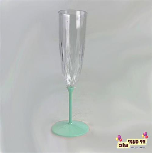 כוסות שמפניה רגל מנטה
