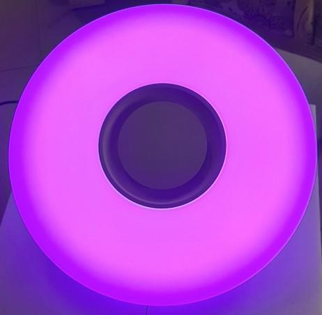 גוף תאורה קוטר 50 מדליק שליטה מלאה דרך אפליקציה אורות מתחלפים בכל הצבעים!!  אור לפי קצב המוזיקה!!