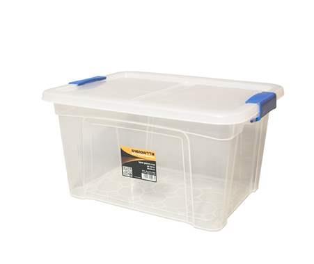 קופסת אחסון עם סגרים - דגם דניאל 40 ליטר