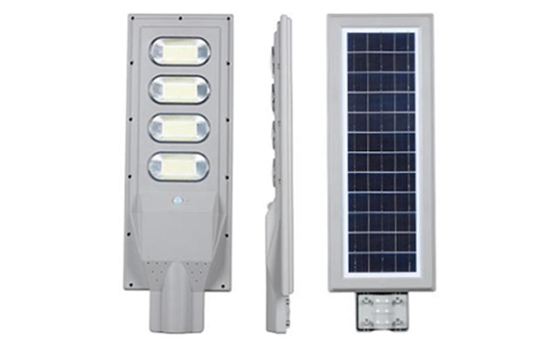 תאורת רחוב  לחצר ולגינה 120 W סולארית אוטומטית עם שלט המשמשת גם לצרכי תאורה ואבטחה גם בפארקים