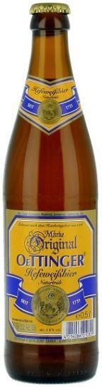 """בירה אותינגר זכוכית חיטה היף ואיזן 4.9% 500 מ""""ל  20 יח'"""