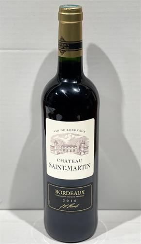 "יין צרפתי  SAINT-MARTIN BORDEAUX  אדום יבש 750 מ""ל"