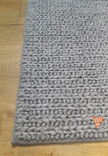 שטיח צמר הודי אפור משולב  02