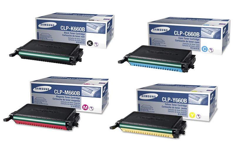 סט 4 טונרים C/M/Y/BK מקוריים סמסונג CLP-610,660ND  CLX-6210,6240FX