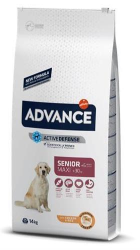 """8410650235394 מזון יבש לכלבים מבוגרים מעל גיל 7 מגזע גדול מבוסס עוף 14 ק""""ג Advance"""