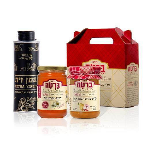 מארז שמן זית, דבש וקונפיטורה