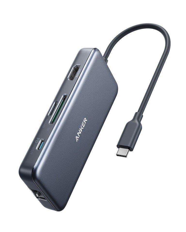 רכזת הטענה 7 יציאות Anker 60W 7 in 1 USB-C HUB