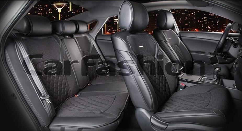 ריפודים נאים לרכב 22354 ריפוד כיסוי הגנה נגד לכלוך ושמירה על מושב הרכב צבע שחור 3D STING PLUS
