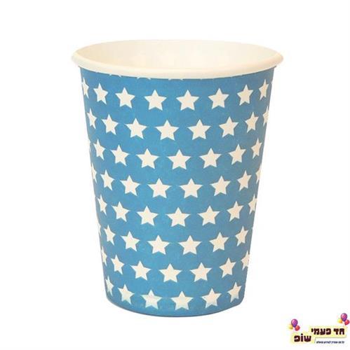 כוסות חמות כחול כוכבים