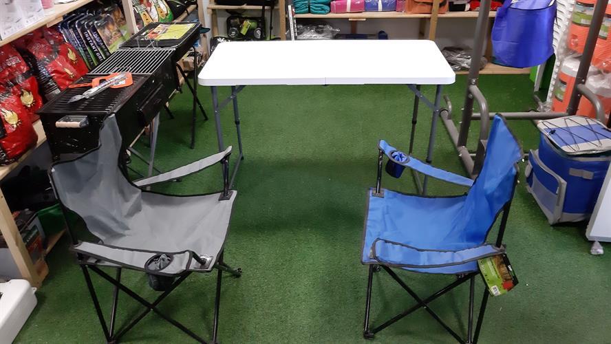 שולחן מתקפל  לבית ולשטח אורך 1.2  מטר רוחב 60 סמ' גובה 74 סמ 5710 ניתן לשנות גובה
