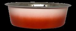 קערת מזון מעוצבת White Orange עם גומיות בתחתית בנפח 2.4 ליטר