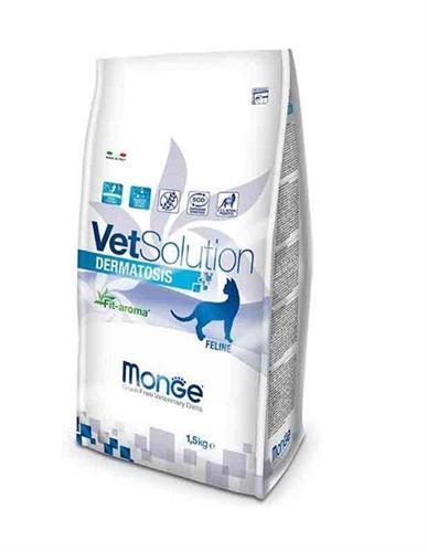 """8009470081559 מזון יבש רפואי לחתולים עם בעיות ורגישות עור 1.5 ק""""ג Monge"""