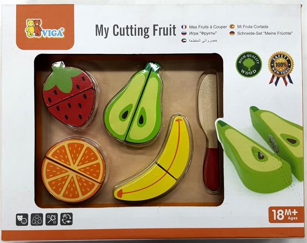 פירות חתוכים + קרש חיתוך