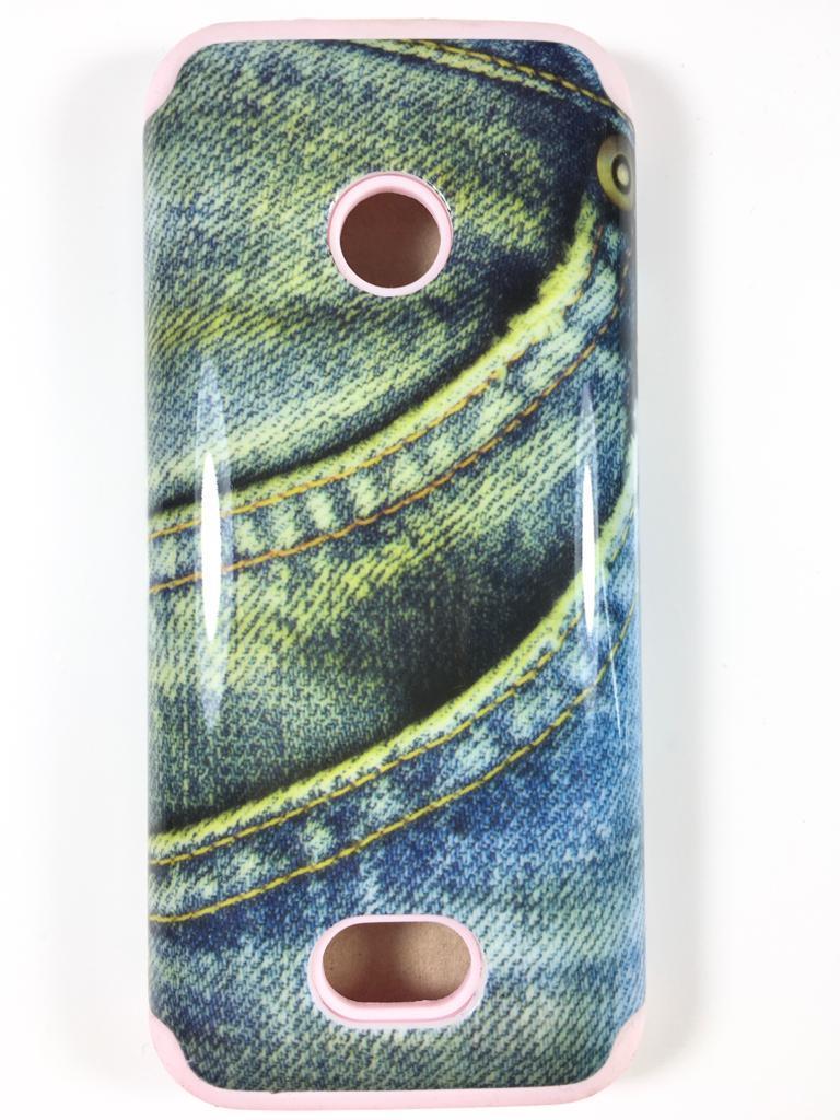 מגן סיליקון כפול לנוקיה 208 NOKIA דגם 'ג'ינס'