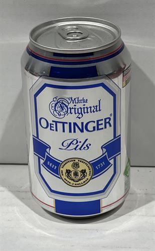 """בירה פחיות  אותינגר 330 מ""""ל  אפור פילס  גרמנית  24 יח'"""