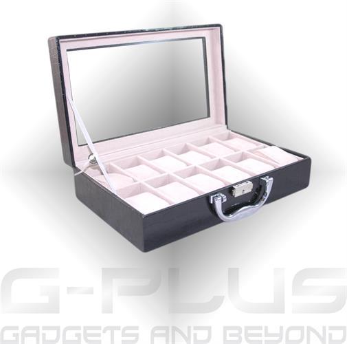 מזוודה דמוי-עור יוקרתית 12 מקומות לשעונים