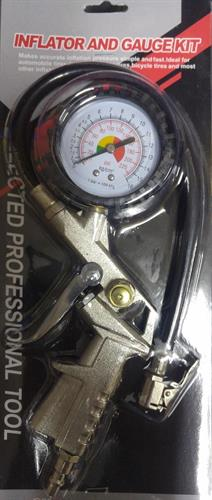 אקדח עם שעון לניפוח אוויר כולל הורדת אוויר חיבור מהיר לקומפרסור