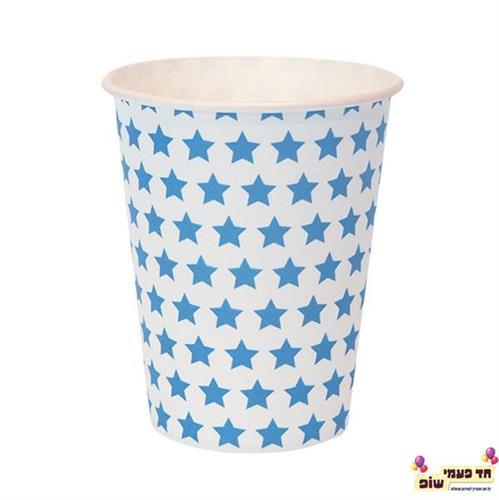כוסות חמות לבן כוכבים
