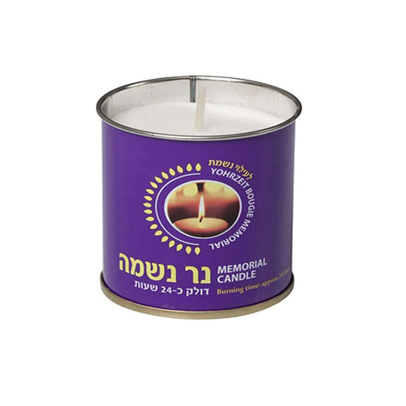 נרות נשמה פח הכוכב קרטון - 24 יח'