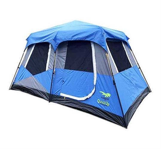 אוהל 8 אנשים פתיחה מהירה  קוויקאפ 8 QUICKUP צבע כחול של חגור