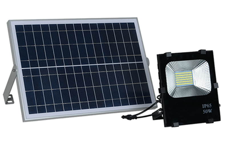 פאנל סולארי עם תאורה 100 W