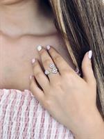 טבעת כסף גאומטרית- כסף אמיתי