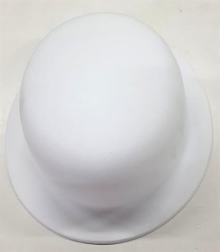כובע לבן ליצירה מרקם קטיפתי
