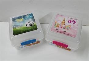 קופסאות אוכל של סיסטמה מחולקות ממותגות עם שם או תמונה