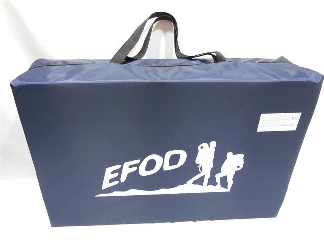 """מזרנים מזרן אישי מתקפל עם תיק יד ספוג 5 ס""""מ  מבית EFOD מזרנים לבית ולשטח ניתן גם לשבת עליו"""